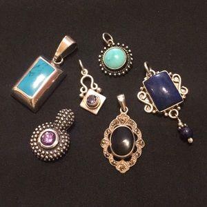 Jewelry - LOT 6 Sterling Silver & Semi-precious or Gemstone!